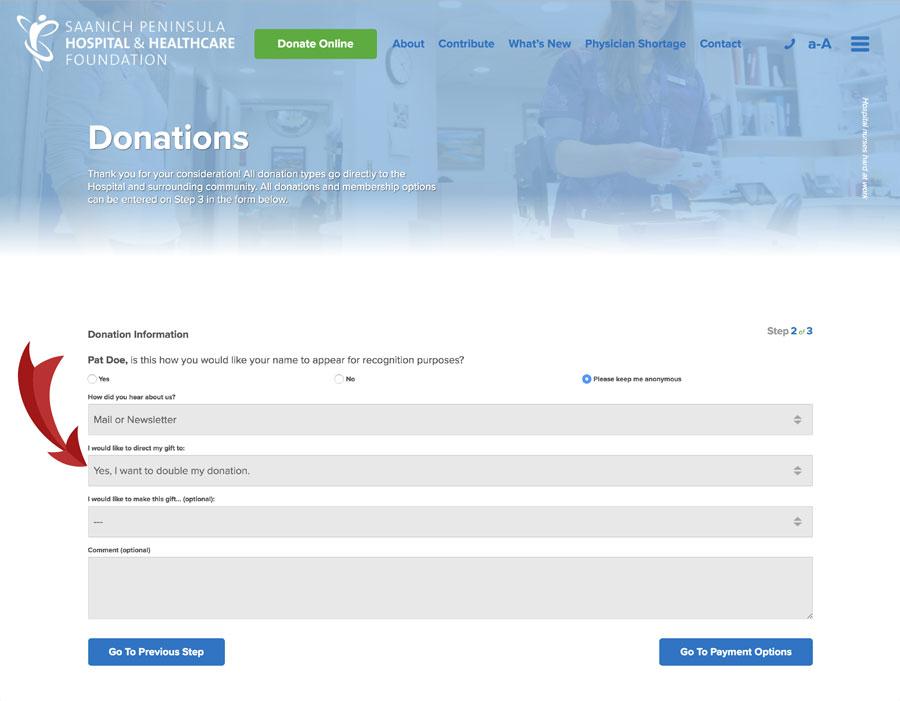 Double Your Donation Saanich Peninsula Hospital Foundation